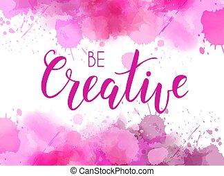 rózsaszínű, lenni, szín, kreatív, vízfestmény, háttér