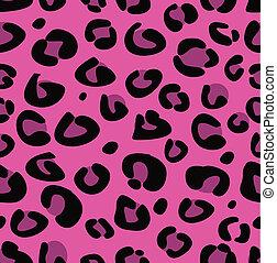 rózsaszínű, leopárd, seamless, struktúra
