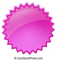 rózsaszínű, loccsanás, csillag