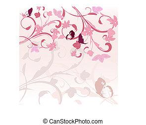 rózsaszínű, motívum, határ