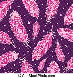 rózsaszínű, motívum, tollazat