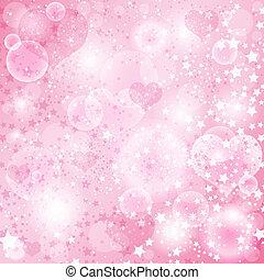 rózsaszínű, nemes, háttér, kedves