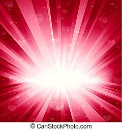 rózsaszínű, piros, csillaggal díszít, romantikus, háttér