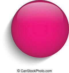 rózsaszínű, pohár, karika, gombol, ikon