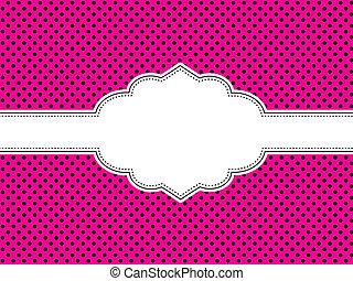 rózsaszínű, polka tarkít, háttér