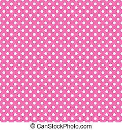rózsaszínű, pont, polka, seamless, háttér