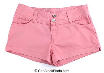 rózsaszínű rövid