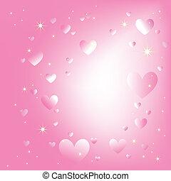 rózsaszínű, romantikus, elpirul háttér, szikrázó, csillaggal díszít, piros