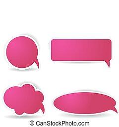 rózsaszínű, szín, panama, beszéd