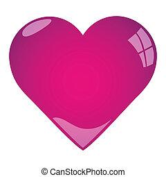 rózsaszínű, szív, ábra