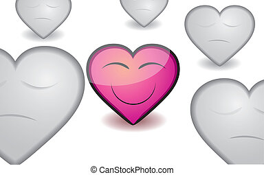 rózsaszínű, szív, ábra, kedves, vektor, appreciable, háttér