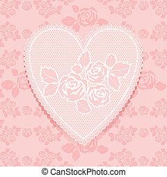 rózsaszínű, szív alakzat, befűz