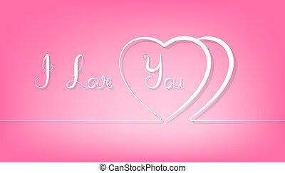 rózsaszínű, szív, elvont, háttér., egyenes, párosít