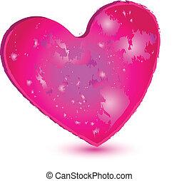 rózsaszínű, szív, jel
