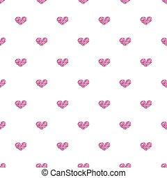 rózsaszínű, szív, seamless, háttér, fehér, fénylik