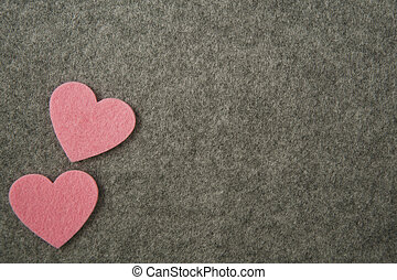 rózsaszínű, szürke, valentine's, filc, háttér., piros, nap