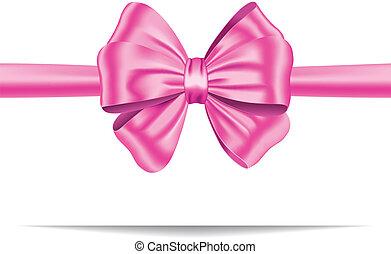 rózsaszínű, tehetség, szalag, íj