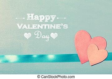 rózsaszínű, valentines, dolgozat, piros, üzenet, nap, boldog