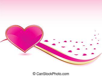 rózsaszín háttér, szív