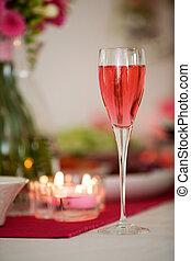 rózsaszín pezsgő