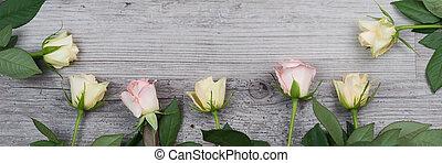 rózsaszín rózsa, sárga