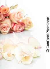 rózsaszín rózsa, szirom