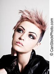 rózsaszín szőr, vacak, fiatal, női
