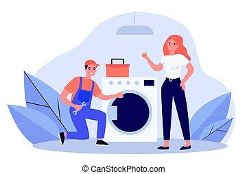 rögzítő, mosás, ezermester, gép