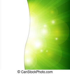 rövid napsütés, zöld háttér