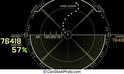radar, játék, számítógép, gps, határfelület