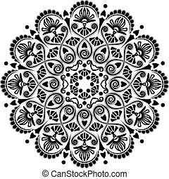 radiális, motívum, geometriai