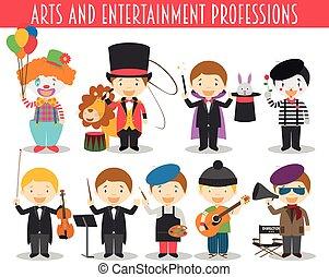 rajzóra, állhatatos, szórakozás, fogadalmak, mód, vektor, karikatúra