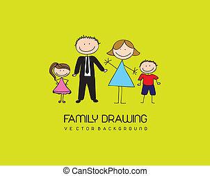 rajz, család