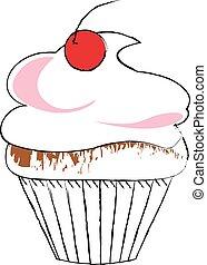 rajz, cupcake