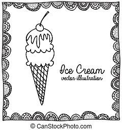 rajz, fagylalt