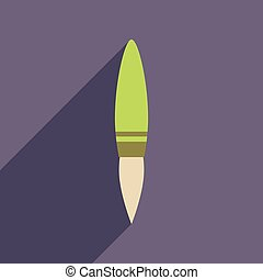 rakéta, ikon, háló, hosszú, árnyék, lakás