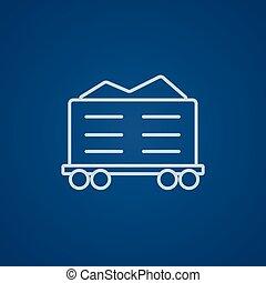 rakomány, egyenes, icon., tehervagon