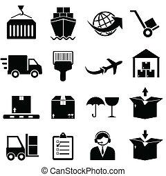 rakomány, hajózás, ikonok