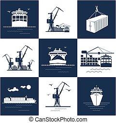 rakomány, tengeri, állhatatos, ikonok