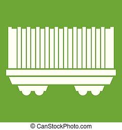 rakomány, zöld, tehervagon, ikon