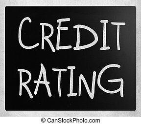 """rating"""", tábla, """"credit, kréta, fehér, kézírásos"""