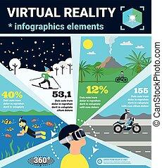 realitás, tényleges, infographics