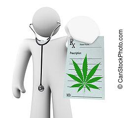 recept, orvos, orvosi, -, marihuána, birtok