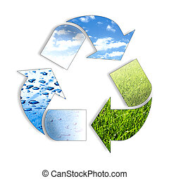 recycl, három, elem, ing, jelkép