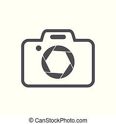 redőny, jelkép, fényképezőgép, tervezés