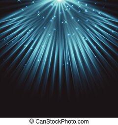 reflektorfény, blue csillag, háttér