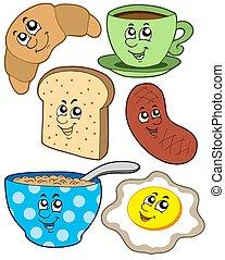 reggeli, karikatúra, gyűjtés
