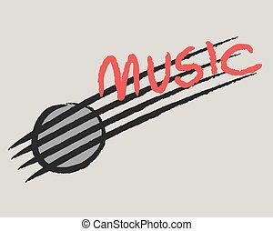 reggi, béke, szeret, zene, motívum