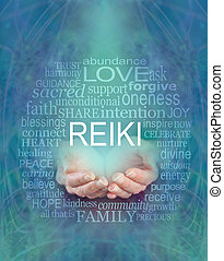 reiki, felhő, bölcsesség, szó, szavak