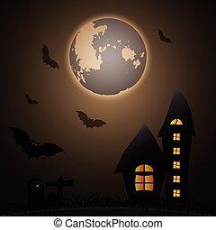 rejtély, hold, halloween éjszaka